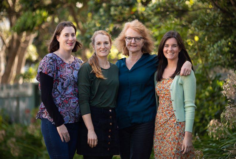 Right to left: Sarah Boyle, Stephanie Jones, Liz Childs, Kate Freeman